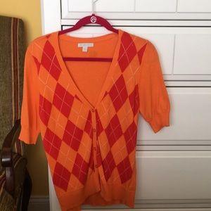 New York &Company short sleeve sweater size M